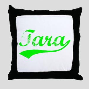 Vintage Tara (Green) Throw Pillow