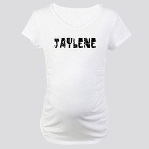 Jaylene Faded (Black) Maternity T-Shirt