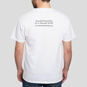 White T-Shirt w/ API Logo on Front/Slogan on Back
