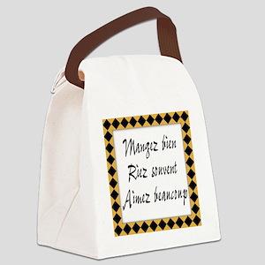 Mangez Riez Aimez Canvas Lunch Bag