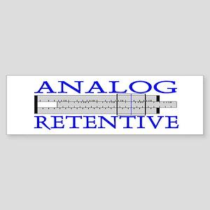 ANALOG RETENTIVE Bumper Sticker