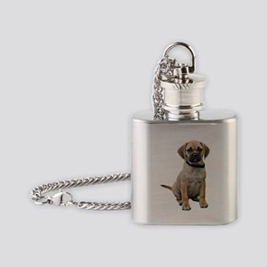 Puggle Puppy Flask Necklace