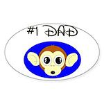 *1 DAD Oval Sticker