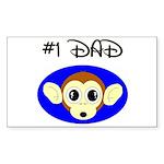 *1 DAD Rectangle Sticker