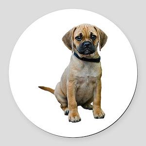 Puggle Puppy Round Car Magnet