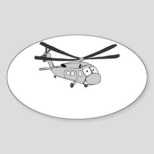 HH-60 Gray Oval Sticker