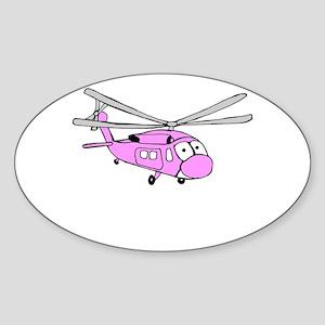 UH-60 Girly Oval Sticker