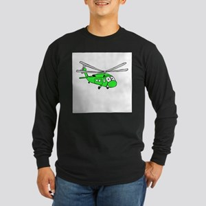 UH-60 Green Long Sleeve Dark T-Shirt