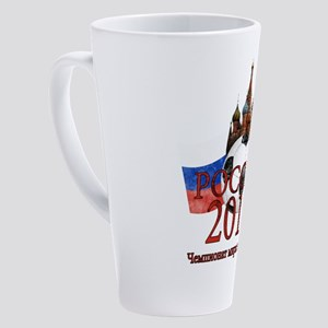 Russia Football World Cup 17 oz Latte Mug