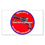 Infringement Rectangle Sticker 10 pk)