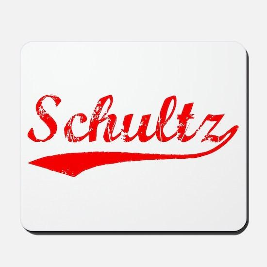 Vintage Schultz (Red) Mousepad