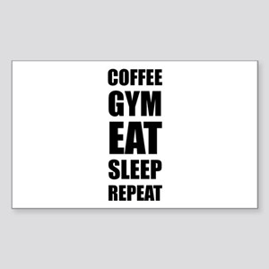 Coffee Gym Work Eat Sleep Repeat Sticker