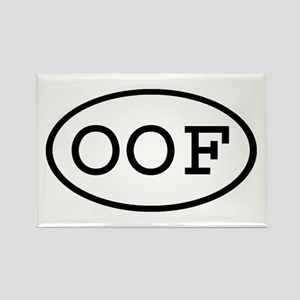 OOF Oval Rectangle Magnet