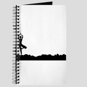 Tree Asana Silhouette Background Journal