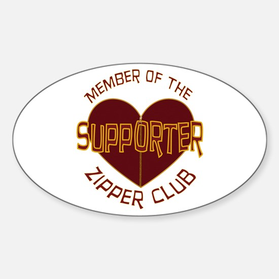 Supporter Oval Sticker (10 pk)