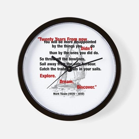 Mark Twain Wall Clock