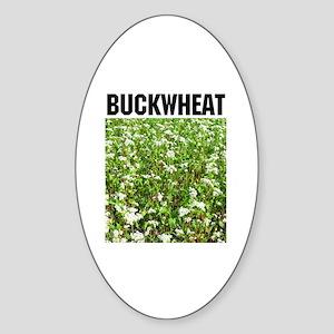 Buckwheat Oval Sticker