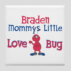 Braden - Mommy's Love Bug Tile Coaster