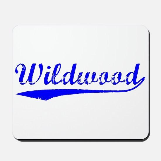 Vintage Wildwood (Blue) Mousepad