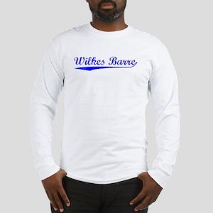 Vintage Wilkes Barre (Blue) Long Sleeve T-Shirt