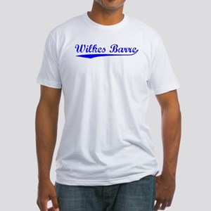 Vintage Wilkes Barre (Blue) Fitted T-Shirt