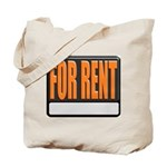 For Rent Sign Tote Bag