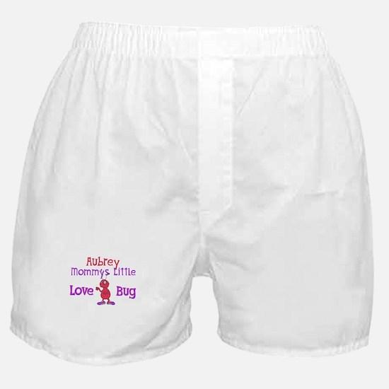 Aubrey - Mommy's Love Bug Boxer Shorts