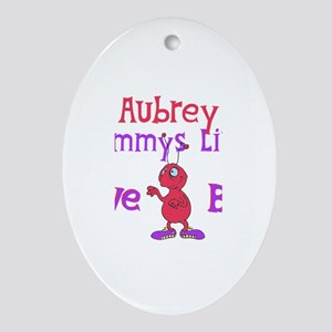 Aubrey - Mommy's Love Bug Oval Ornament