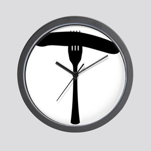 Sausage On A Fork Wall Clock