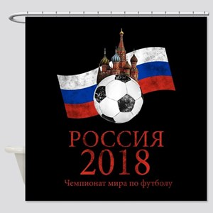 Russia Football World Cup Shower Curtain