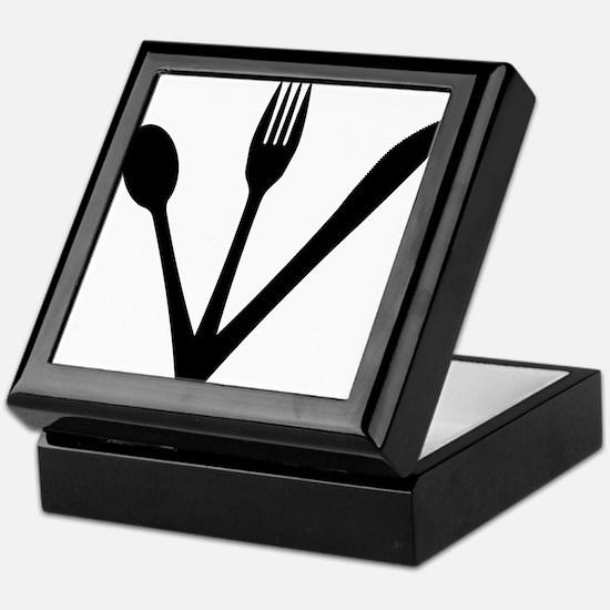 Knife Fork And Spoon Set Keepsake Box