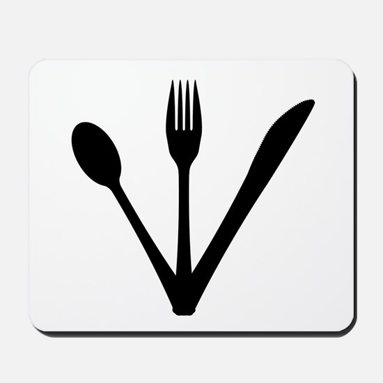 Knife Fork And Spoon Set Mousepad