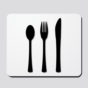 Knife Fork And Spoon Mousepad