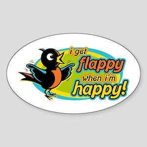 Flappy/Happy (OB2) Oval Sticker