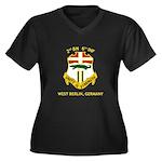 2nd BN 6th INF Gear Women's Plus Size V-Neck Dark