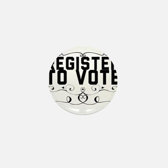 Register to Vote Mini Button