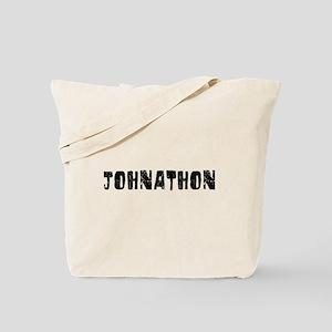 Johnathon Faded (Black) Tote Bag
