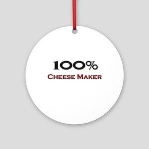 100 Percent Cheese Maker Ornament (Round)