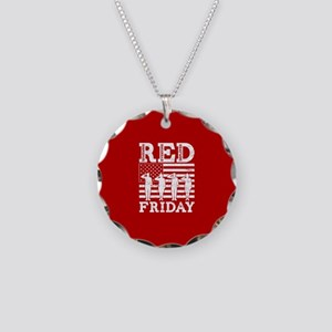 RED Friday Salute Necklace Circle Charm