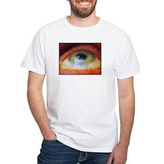 ICU Big EYE White T-Shirt