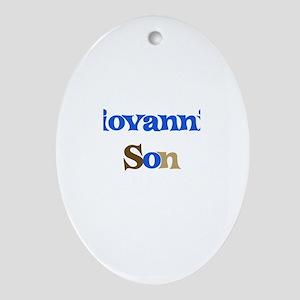 Giovanni's Son Oval Ornament