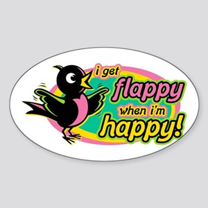 Flappy/Happy (GP2) Oval Sticker