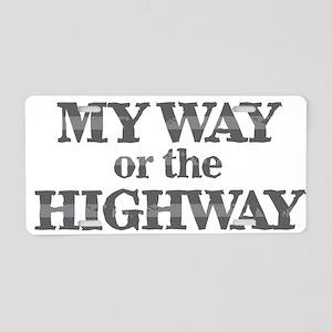 My Way - Highway Aluminum License Plate