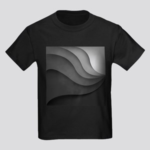 Black Abstract Kids Dark T-Shirt