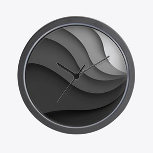 Black Abstract Wall Clock
