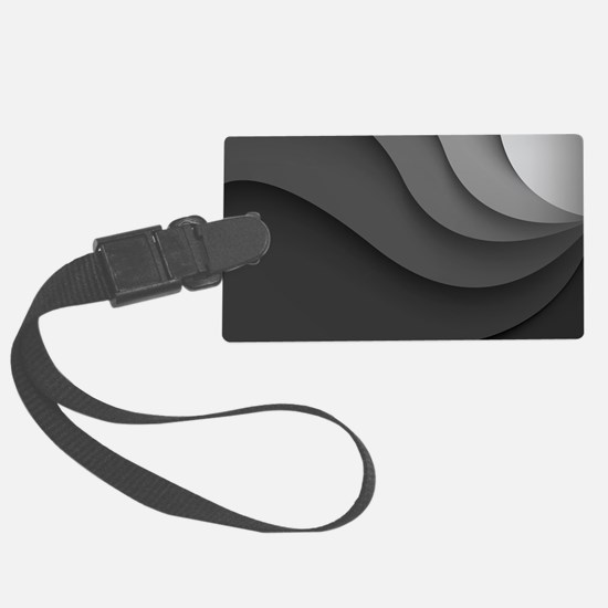 Black Abstract Large Luggage Tag