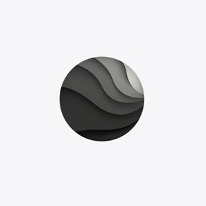 Black Abstract Mini Button