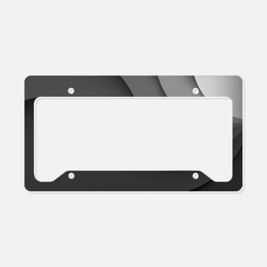 Black Abstract License Plate Holder