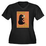 Mojito Havan Women's Plus Size V-Neck Dark T-Shirt