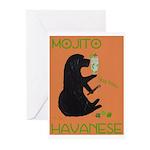 Mojito Havanese Greeting Cards (Pk of 10)